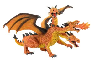 Dragon with 3 Heads orange