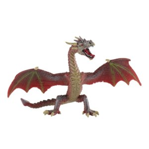 Dragon flying red-brown